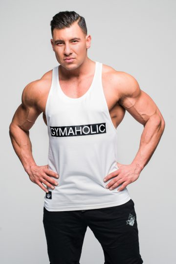 tank top gymaholic deadlift