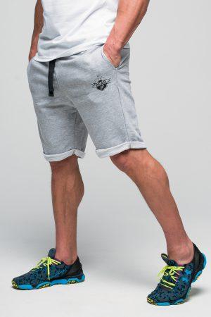 krótkie spodenki męskie szare dresowe
