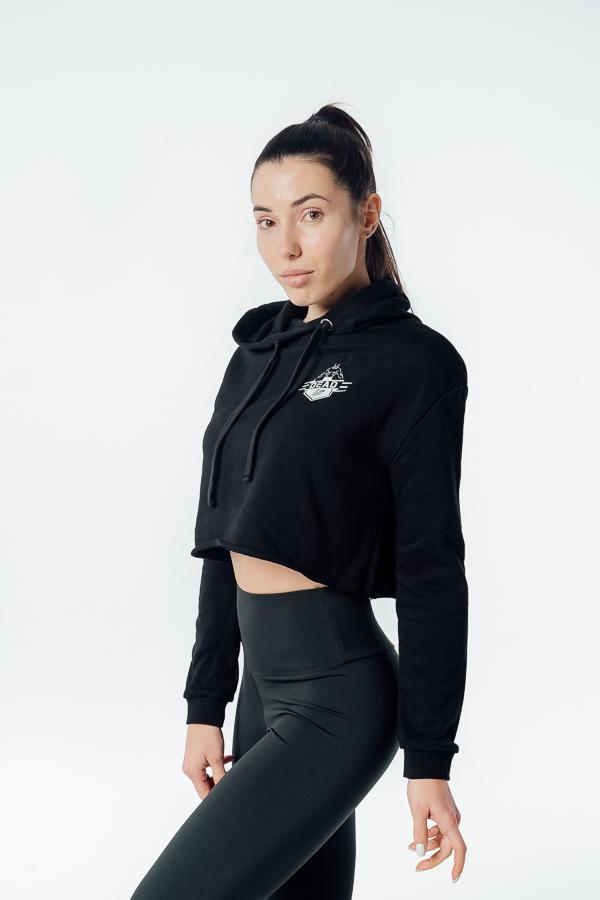 sportowa bluza crop czarna