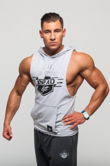 bokserka z kapturem męska na siłownię