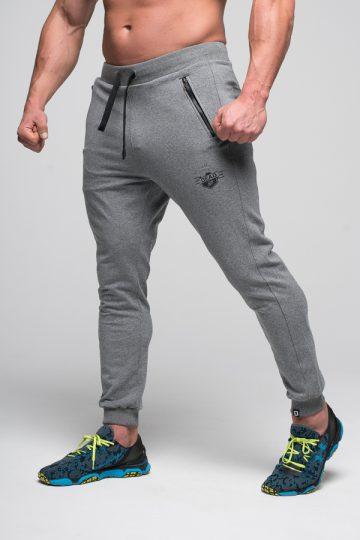 spodnie dresowe męskie szare deadlift