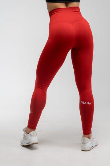 legginsy bezszwowe czerwone