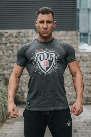 tshirt męski sportowy tarcza