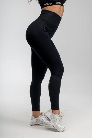 legginsy bezszwowe czarne