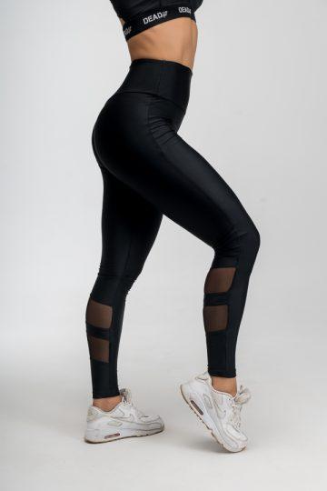 czarne legginsy sportowe