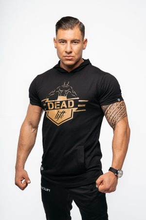 t-shirt męski z kapturem
