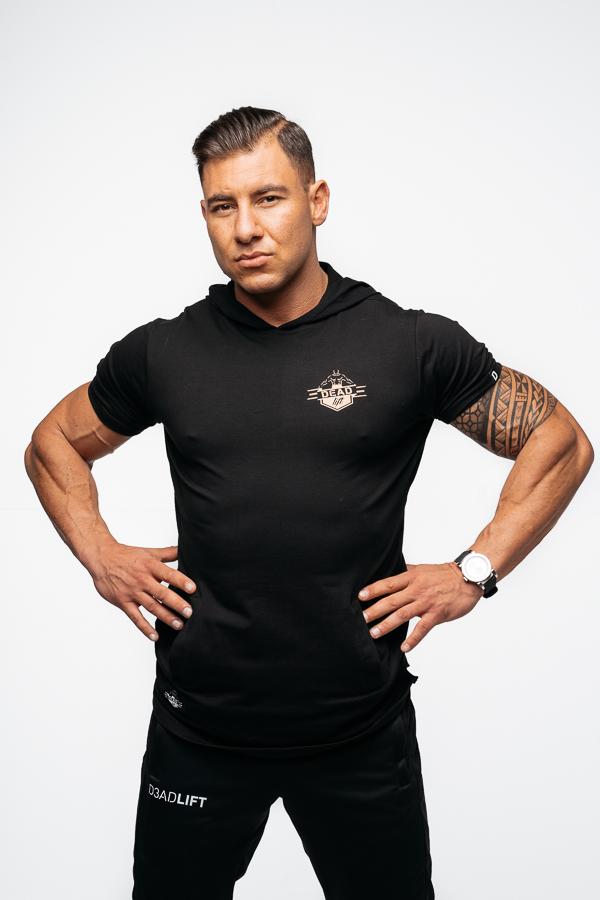 t-shirt z kapturem męski