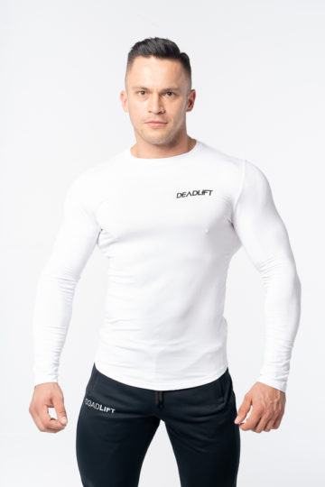 longsleeve męski biały
