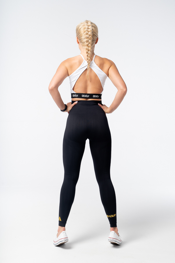czarne legginsy bezszwowe seamless
