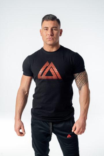 t-shirt sportowy męski czarny