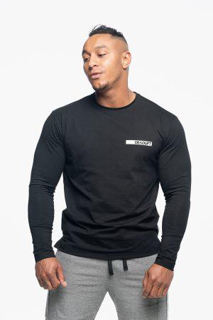 longsleeve męski w kolorze czarnym loose fit