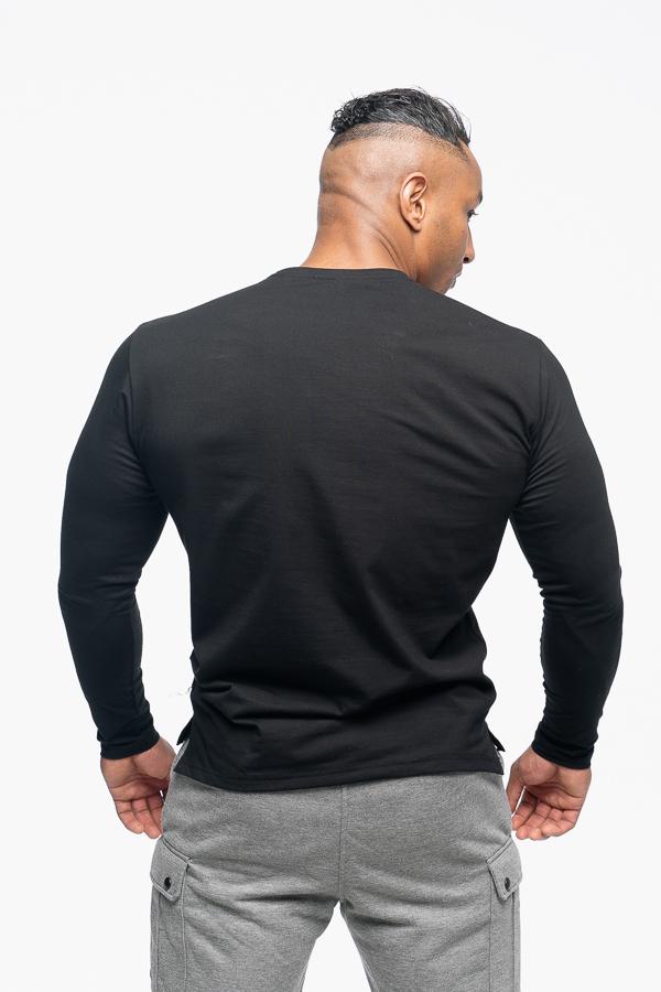 longsleeve męski w kolorze czarnym