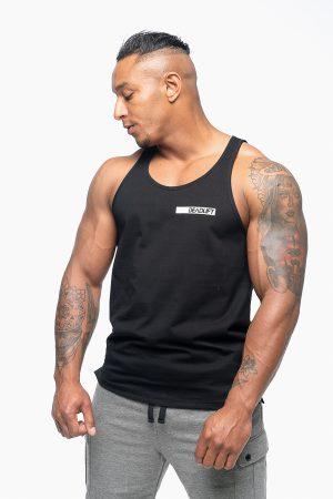 top męski reguler fit w kolorze czarnym