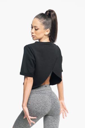 bluza crop z wycięciem na plecach