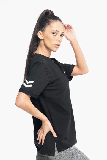 koszulka oversize damska w kolorze czarnym