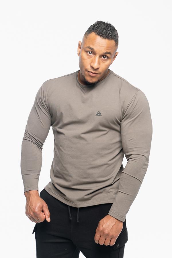 longsleeve męski w kolorze khaki typu loose fit