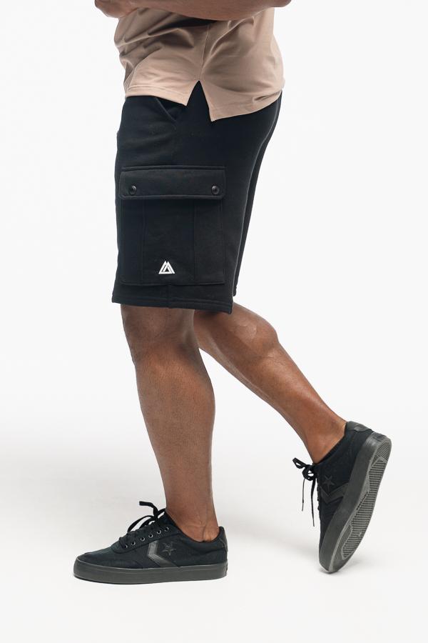 spodenki męskie czarne w stylu cargo