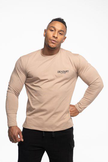 longsleeve męski loose fit w kolorze beżowym