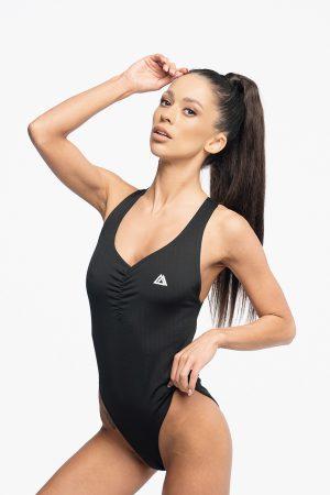 strój kąpielowy monokini czarne