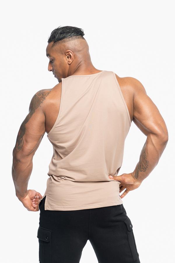 top męski na ramiączkach sportowy