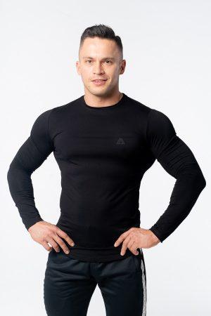 longsleeve męski czarny slim fit